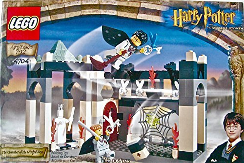 RARE LEGO Harry Potter 2001 The Chamber of The Winged Keys, Model 4704 (Harry Potter Board Game Lego)