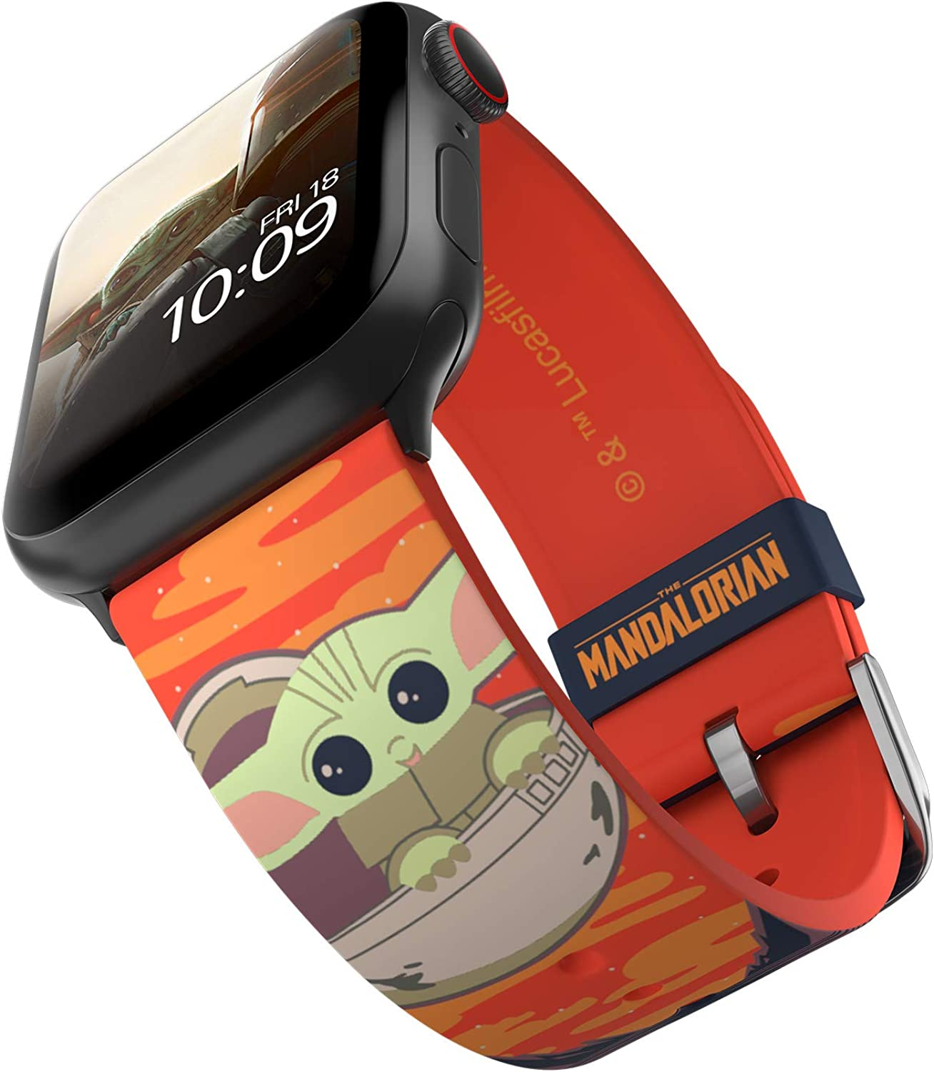 Star Wars: The Mandalorian - The Child Bounty Smartwatch Band - Officially Licensed, Compatible with Apple Watch (not included) - Fits 38mm, 40mm, 42mm and 44mm