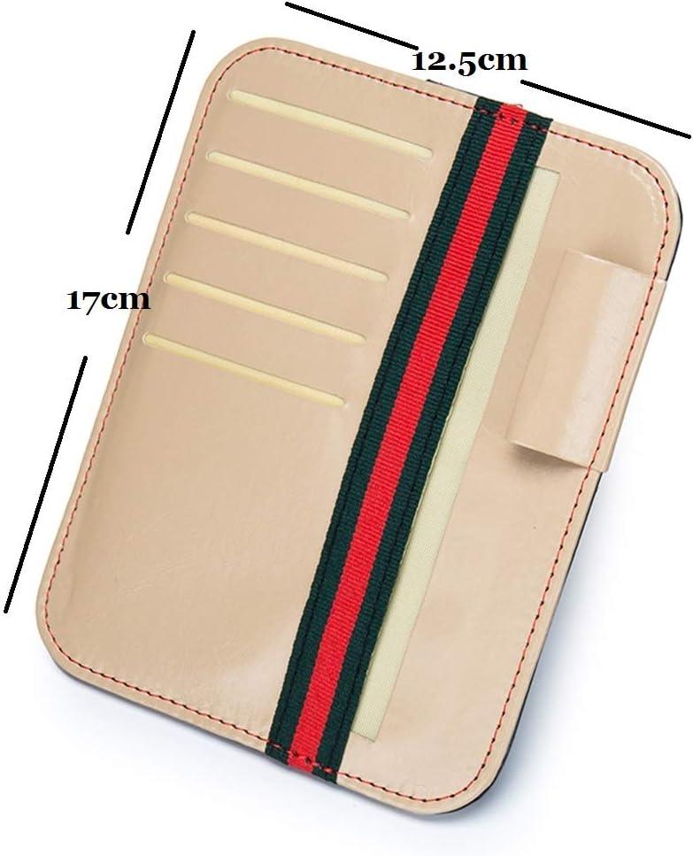 Details about  /Organizer Car Sun Visor Storage Card Leather Holder Bag Glasses Case Pouch Cover