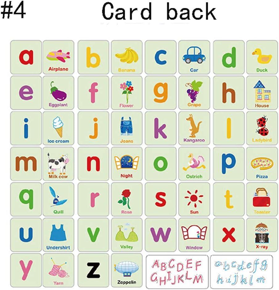 Zerodis Cartes de Puzzle de Cognition Mignon Cartes Flash de lEveil Pr/écoce avec la Bo/îte de Fer Nombres Lettres Formes Animaux Premiers Jouets dapprentissage pour B/éb/és Tout-Petits Enfants #2
