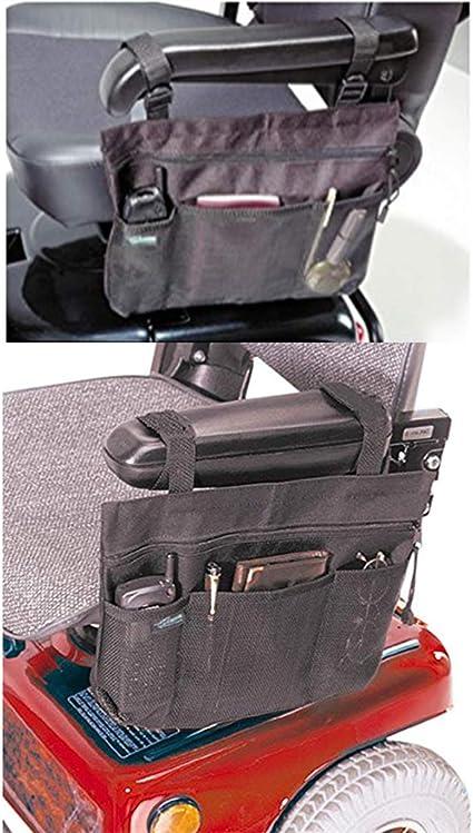 Amazon.com: Bolso lateral para silla de ruedas, reposabrazos ...