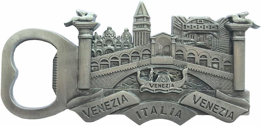 Venise Venezia 3d Aimant de r/éfrig/érateur souvenir de Italie Argent Aimant de r/éfrig/érateur D/écapsuleur