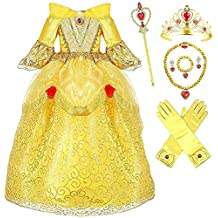 Romy's Collection Princess Belle Deluxe Yellow Party Dress Costume