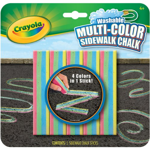 Crayola Washable Multicolored Sidewalk Chalk
