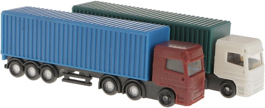 2pcs Juegos Modelo de Camión Contenedor Figura 1: 100 Escala Ho Diseño Escenografía Edificio: Amazon.es: Juguetes y juegos
