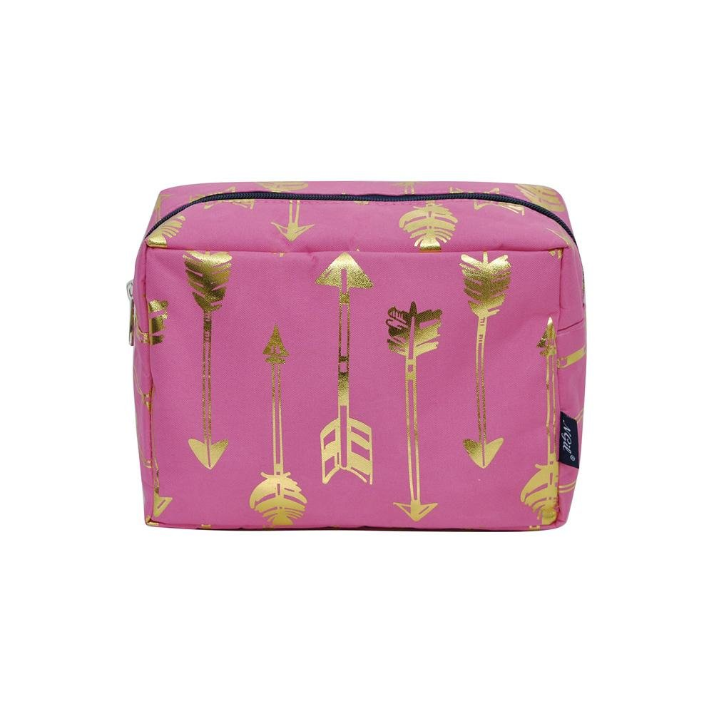NGIL Large Travel Cosmetic Pouch Bag Spring 2018 Collection (Gold Arrow Pink)
