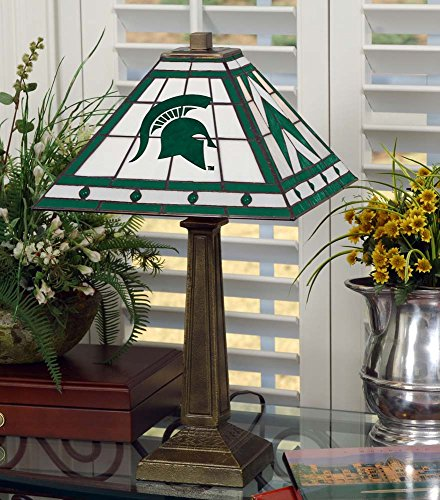 NCAA Michigan State University 23in Mission Lamp, One Size, Multicolor by Memory Company