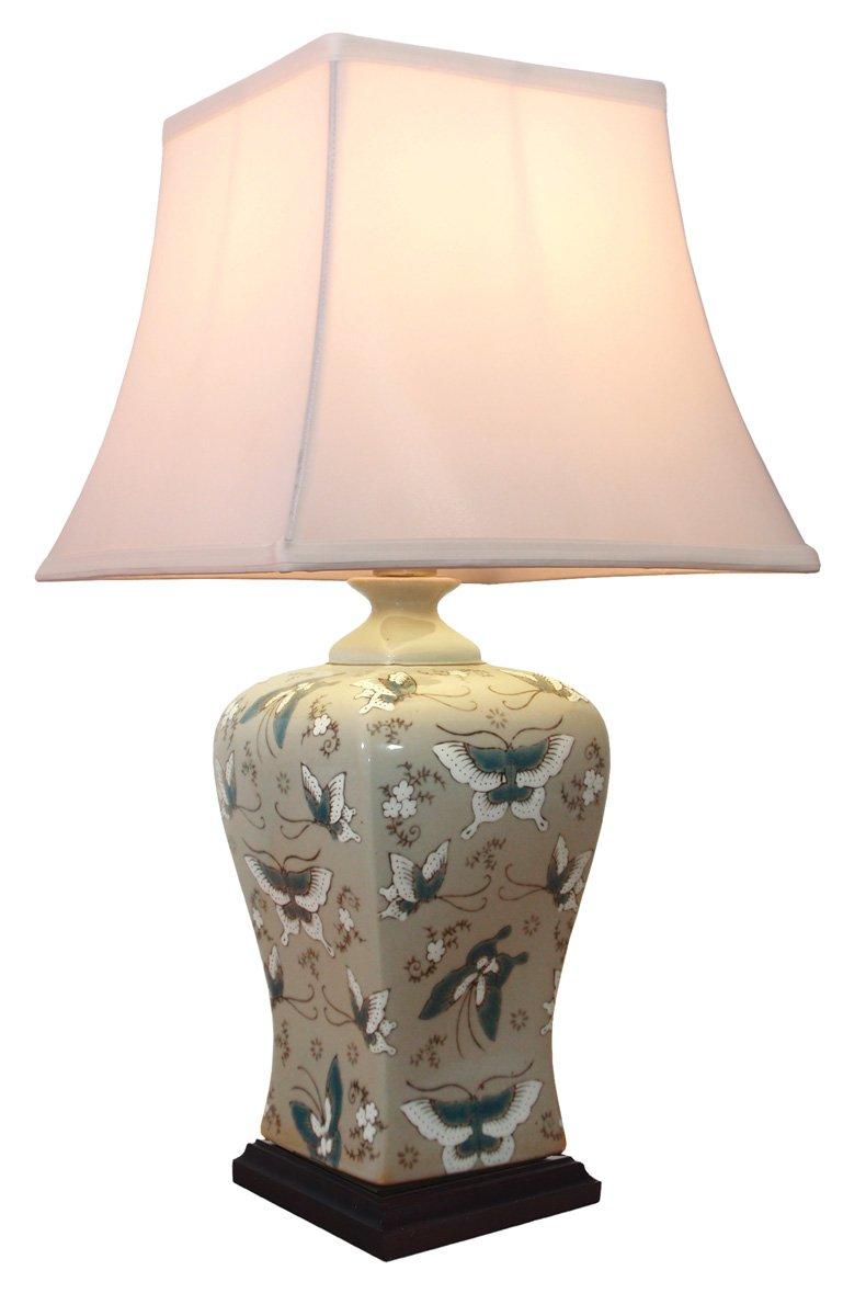 Ceramic Table Lamp Uk:Large Cream Oriental Ceramic Table Lamp M9955 Chinese Mandarin Style  Perfect for All. UK s,Lighting