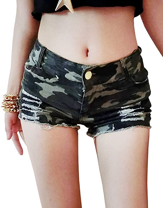 Mujeres Hot Mini Denim Shorts Talle Bajo Short Ripped Jeans