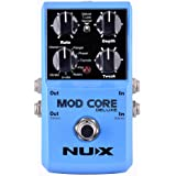 NUX MOD Core DELUXE Chorus/Flanger/Phaser/Rotary Guitar Effect Pedal 8 Modulation Effects Preset Tone Lock