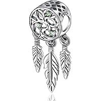 CELESTIA Charms et Perles Dreamcatcher Spirituelles, Femmes Charms Argent Sterling 925, Charms pour Bracelets Européens, Bijoux, Cadeaux pour Dames Filles