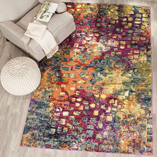 Safavieh Collection MNC225D Abstract Watercolor product image