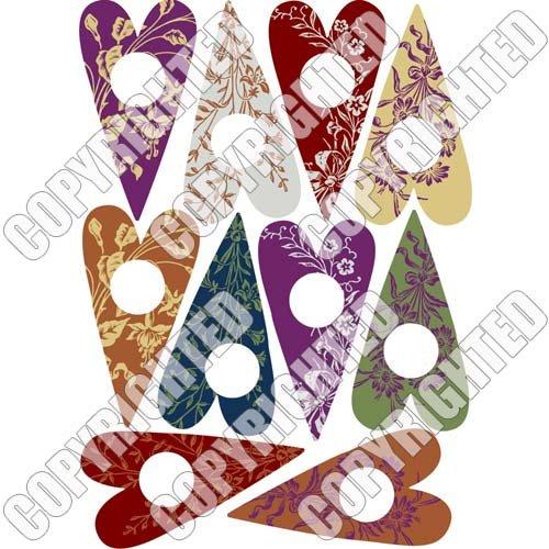 (Nunn Design Transfer Sheet Floral Hearts for Scrapbook - Fits Patera)
