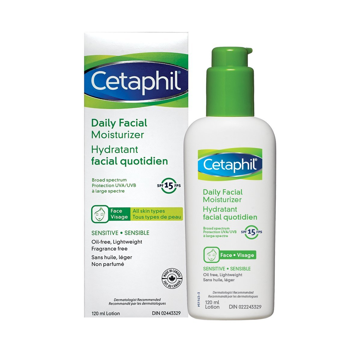 Cetaphil Gentle Skin Cleanser 500ml Beauty 500 Ml Daily Facial Moisturizer Spf 15 120ml