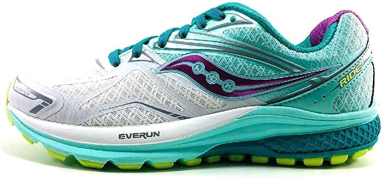 Saucony Ride 9, Zapatillas de Running para Hombre, (Turquesa/Blanco/Púrpura), 38 EU: Amazon.es: Zapatos y complementos