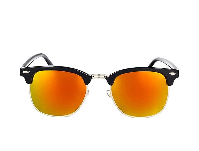 6caa8db198eff Amazon.com  Dormery Square Polaroid Men Sunglasses Women Brand Designer  Fashionsun glasses oculos de sol feminino MA016 NO3 Red Mirror  (7900246813552)  ...