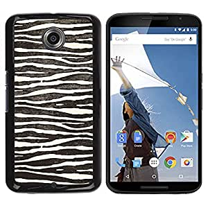 Paccase / SLIM PC / Aliminium Casa Carcasa Funda Case Cover para - White Black Zebra Stripes Nature Animal - Motorola NEXUS 6 / X / Moto X Pro