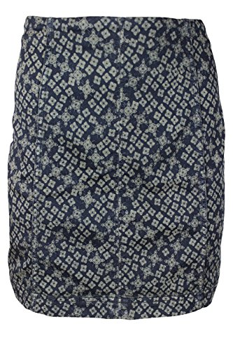 Free-People-Womens-Blue-Floral-Stretchy-Mini-Straight-Denim-Skirt