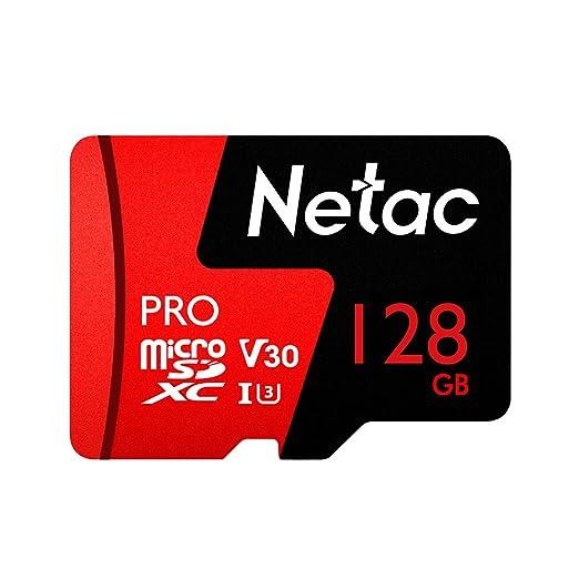 Netac 128 GB Pro Micro SDXC TF Tarjeta Tarjeta de Memoria de retención V30/UHS-I U3 Alta Velocidad hasta 98 MB/s