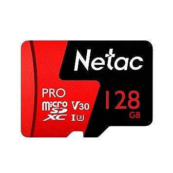doco Oler Netac 128 GB/64 GB Pro Micro SDXC TF Tarjeta Tarjeta de Memoria de retención V30/UHS-I U3 Alta Velocidad hasta 98 MB/s