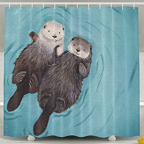 NNHKY Home Bath Decor Polyester Fabric Shower Curtain Bathroom Sets 60 X 72 Inch