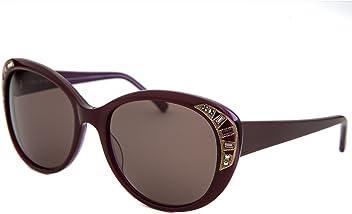 70e020f7fc65d Judith Leiber Designer Sunglasses JL5004-06 in Ruby in Brown Lens