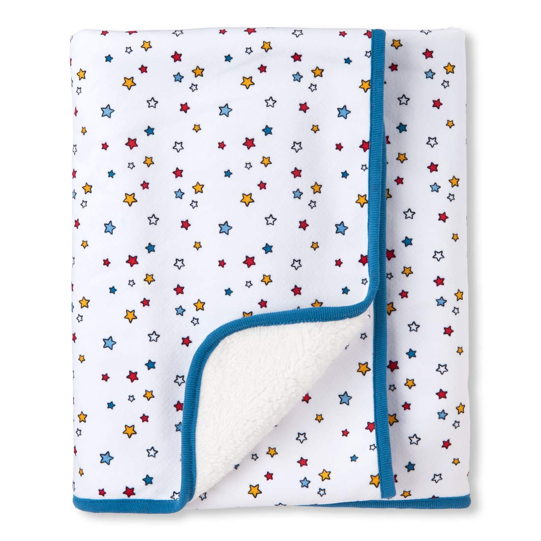 ONE Size The Children/'s Place 2112185 White The Childrens Place Baby Boys Layette Cozy Blanket