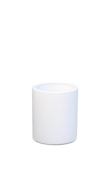 Großer Pflanztopf Pflanzkübel frostsicher rund Ø 36 x 46 cm, Farbe weiß, Form 312.046.04 Blumenkübel für Draußen und Innen - Qualität von Hentschke Keramik