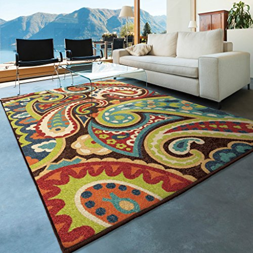 Orian Rugs Indoor/Outdoor Paisley Monteray Multi Area Rug (5'2