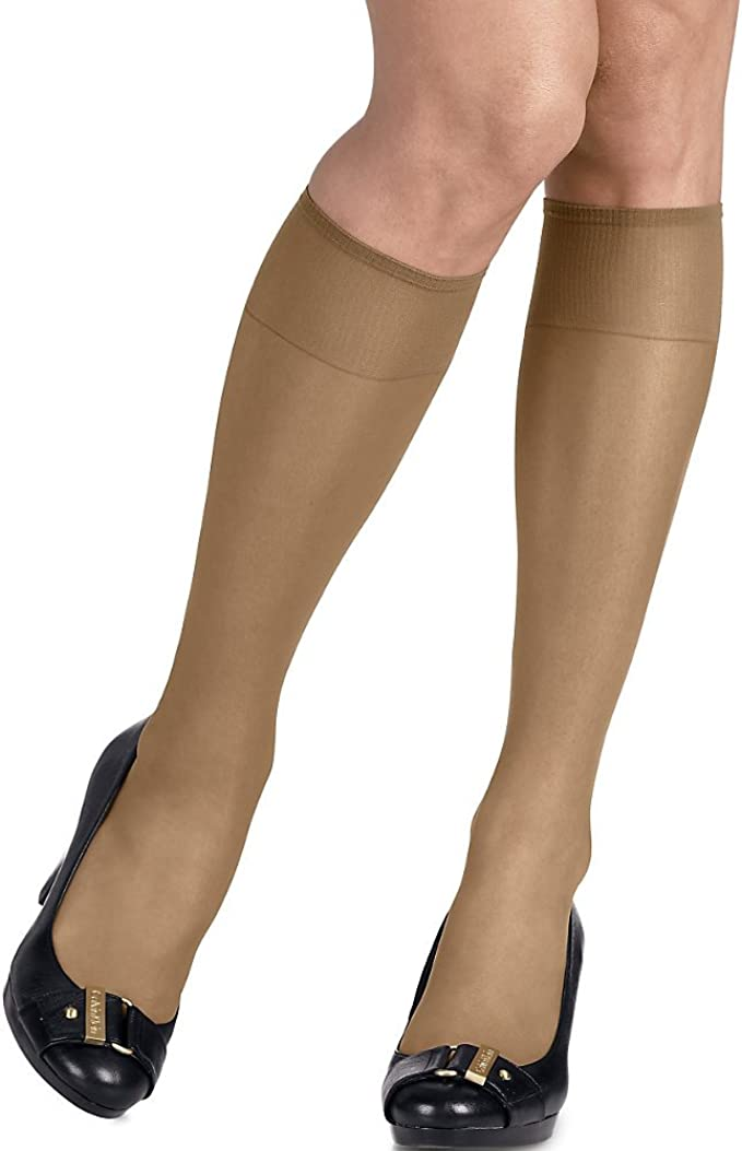 Navy Town Taupe Hanes Silk Reflections Sheer Pantyhose ~ Travel Buff