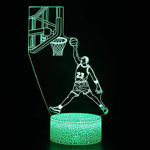 Lámparas De Mesa Y Mesilla De Noche Baloncesto Tema Luces ...