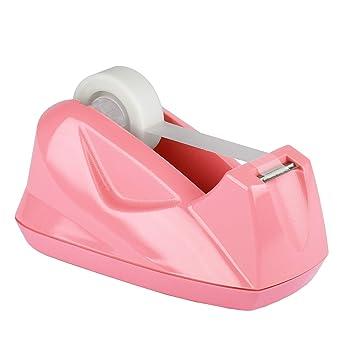 Acrimet Premium Dispensador de Cinta Adhesiva (Color Rosa): Amazon.es: Oficina y papelería