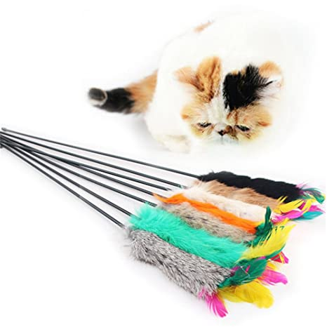 Blue Vessel mascotas Stock parte los gatos Juguetes Muelle Varita mágica para gatos atrapasueños Teaser juguete