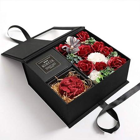 XYH Jabón de Rosas, Caja de Regalo Creativa para Mujer ...