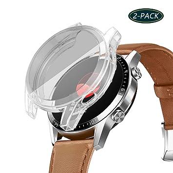 Jvchengxi Funda Protectora para Huawei Watch GT 2 46mm, Cubierta Protectora de Marco Resistente a los rasguños TPU Protector de Pantalla de Cobertura ...