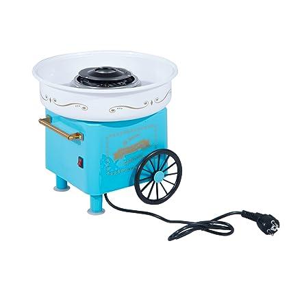 a74edf1a7fd58 HOMCOM Máquina de Algodón de Azúcar Eléctrica Profesional Estilo Retro  Regalo Infantil para Fiestas Cumpleaños Acero
