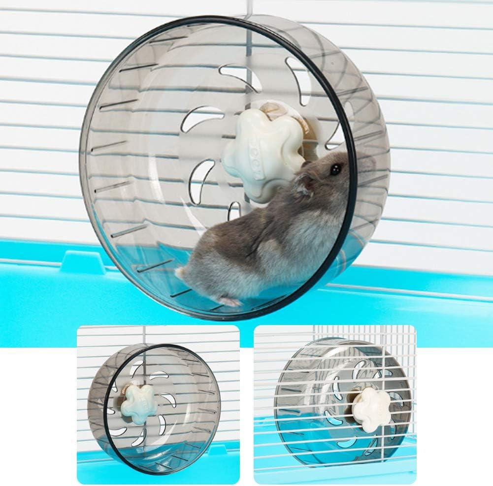 Rueda para hámster para mascotas, 13 cm, plástico transparente ...