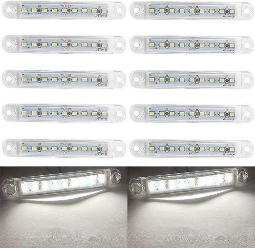 Led Markierungsleuchten 10pcs Led Truck Side Lights 9 Smd Led Seitenmarkierungsanzeige Vorne Hinten Seitenlicht Positionsleuchten 12v Für Auto Weiß Auto