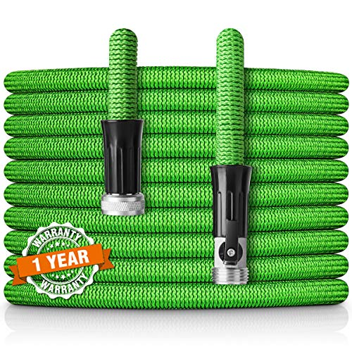 HooSeen Expandable Garden Hose,100ft Flexible Kink-Free Water Hose with Double Latex Core, 3/4
