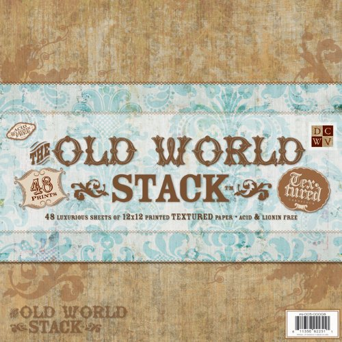Diecuts With A View 12 x 12-inch Old World Texture Paper Stack, Pack Of 48,