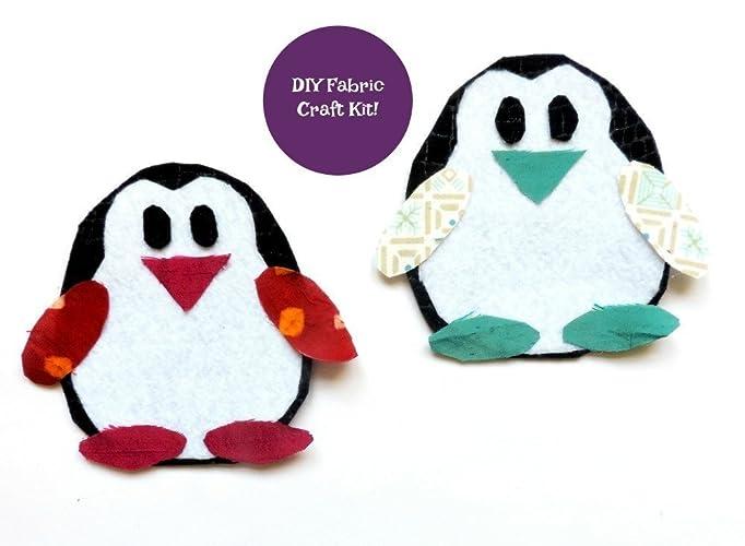 amazon com penguin craft kit diy kit felt crafts animal craft
