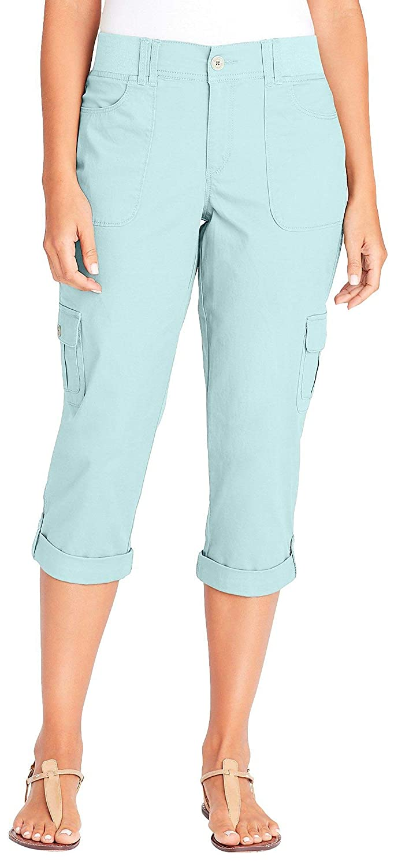 8508607c357 Gloria Vanderbilt Womens Ribbed Cargo Capris at Amazon Women's Clothing  store: