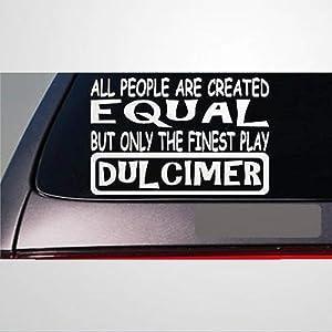 Dulcimer All People Equal auto Sticker,Vinyl Car Decal,Decor for Window,Bumper,Laptop,Walls,Computer,Tumbler,Mug,Cup,Phone,Truck,Car Accessories