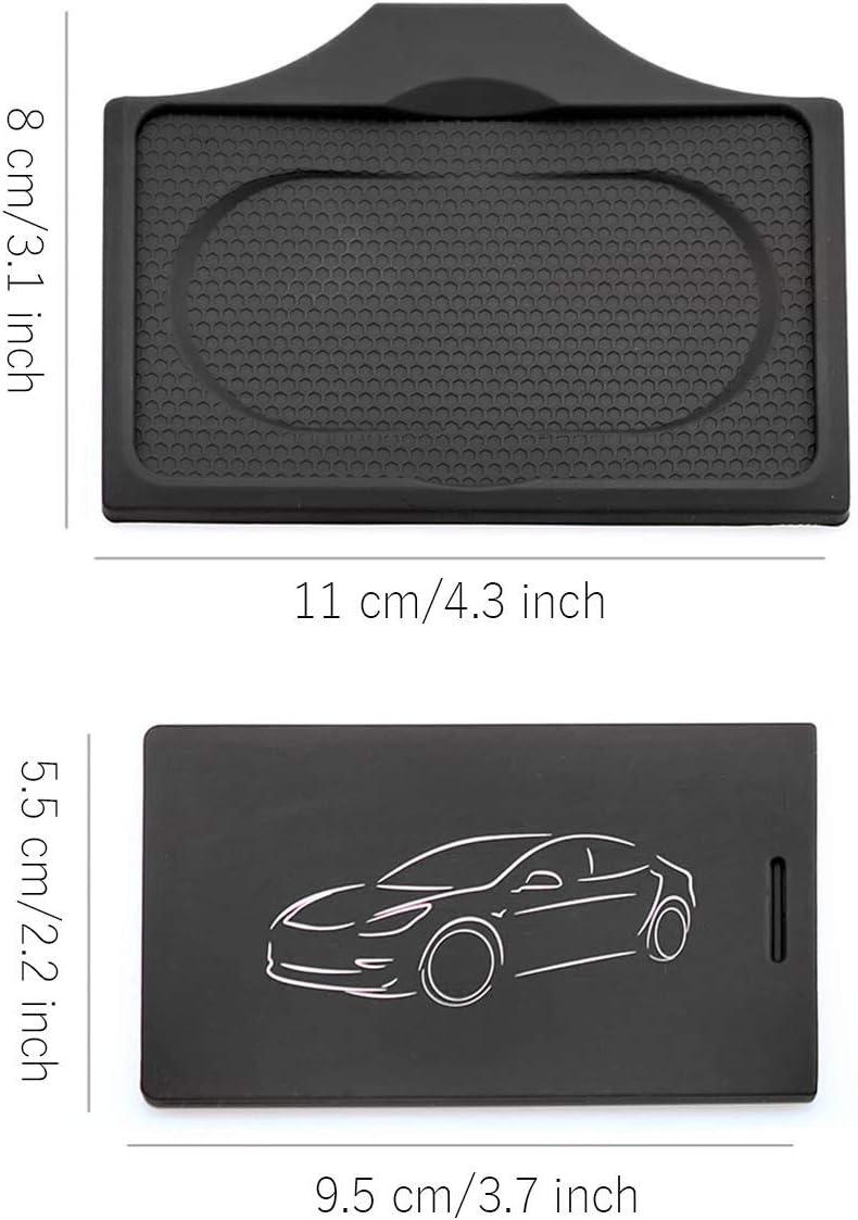 YEE PIN New Upgraded Tesla Model 3 Special Key Card Silicone Holder /& Key Card Sleeve Keychain Anti Slip /& Anti Loss Black