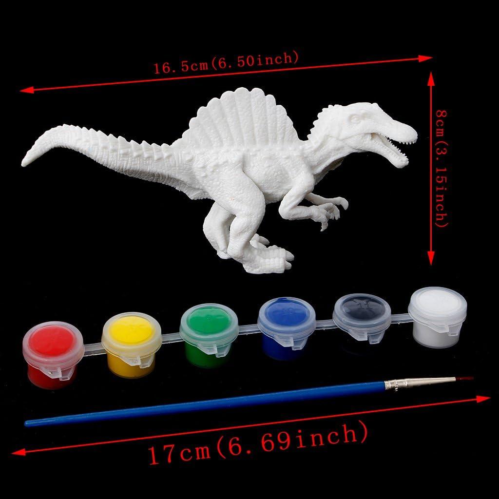 zijianZZJ DIY Painting Dinosaur Model Drawing Graffiti Toys for Kids Children Gift for Boys Girls