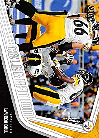 2018 Score Celebration  5 Le Veon Bell Pittsburgh Steelers Football Card 856e7dd0f