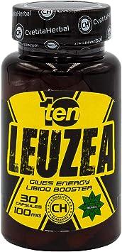 TEN NUTRITION, Leuzea carthamoides, 30 cápsulas x 100 mg, ayuda a construir masa muscular, bioestimulante natural, aumentar la síntesis de proteínas, ...