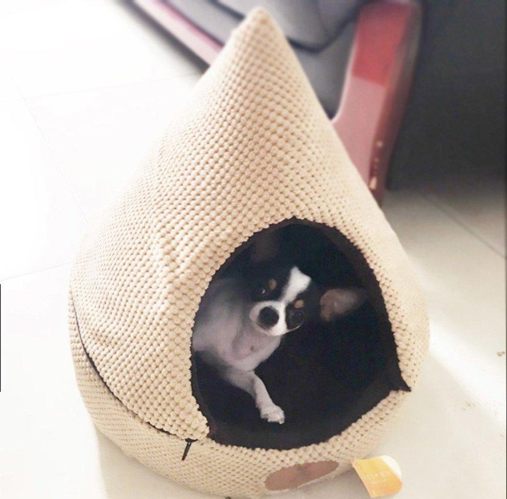 56x56cm(22x22inch) Wangs warm winter cat's nest small yurt Closed pet tent-A 56x56cm(22x22inch)