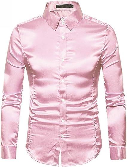 Camisas para Hombre Regular Fit, Hombres Moda Casual ...