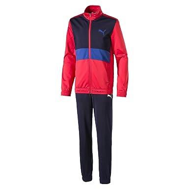 PUMA baseball collar track suit b, tuta sportiva bambino, rosso (high risk red), 164